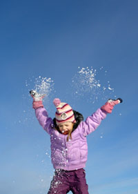 Little girl enjoying the Red Mountain Ski Area