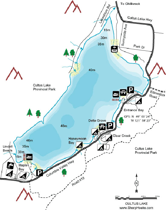 Cultus Lake Town Map