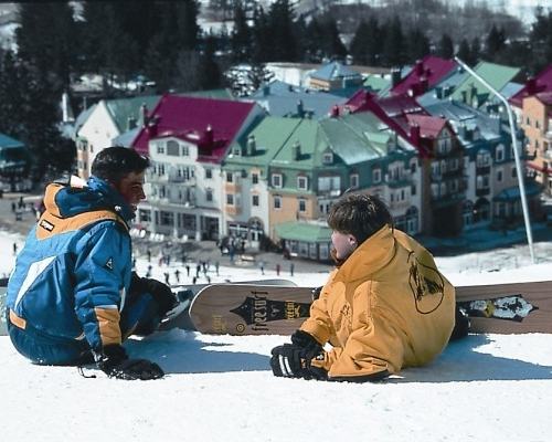 Mont Tremblant weather in late March can be sunny with spring skiing/boarding conditions.
