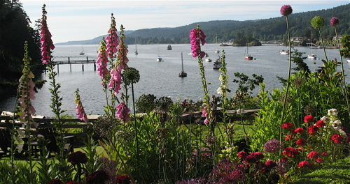 Salt Spring Island accomodations with a beautiful view