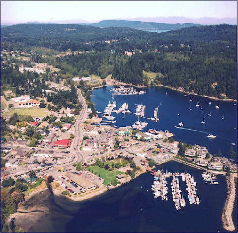 Salt Spring Island BC - view from the harbour