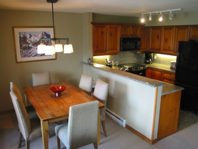 Enjoy the perks of your own fully-equiped kitchen at Arrowhead Point in Whistler