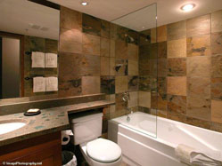 Modern Powderhorn bathroom.