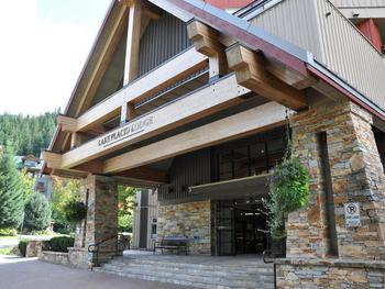 Front entrance of Lake Placid Lodge