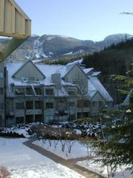 From our balcony you can enjoy a view of the garden courtyard or pick out a skier coming down the slopes.