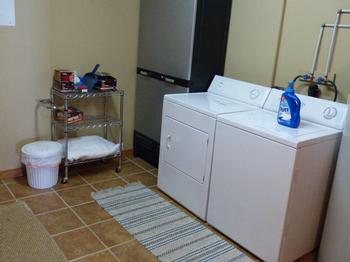 Laundry Room with large Washer & Dryer