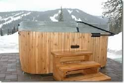Hot tub with view of Mt. Morrisey