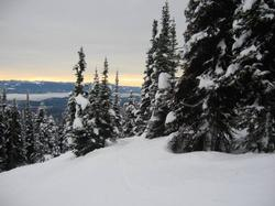Late in the afternoon at Big White