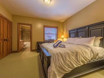 Large Master Bedroom with King bed and full ensuite bath.