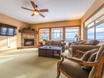 Big open living space with views of Happy Valley.