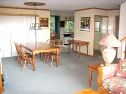 Dining area leading to upper deck