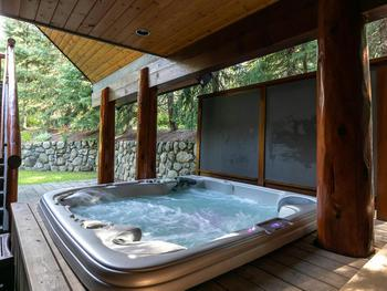 Relax in the hot tub (outdoor and covered)