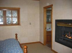 Master bedroom with gas fireplace