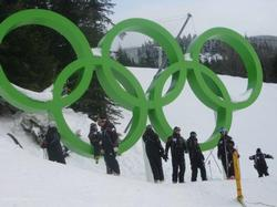 Olympic symbols in Whistler!