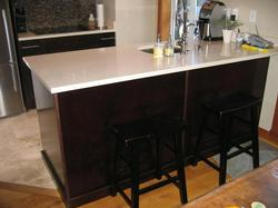 Bar stools-Limestone counter tops