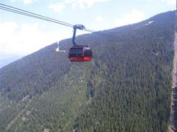 The all new Peak to Peak Gondola connecting Whistler & Blackcomb Mountains.