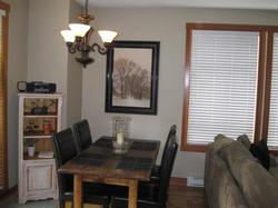 Dining Room w/new leather highback chairs