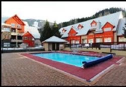 Lake Placid Lodge has one of the bigger outdoor swimming pools in all of Whistler.