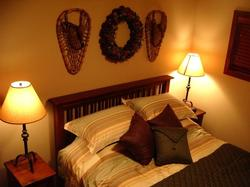 The third upstairs bedroom also has a queen size bed (All four beds have good quality quilts)