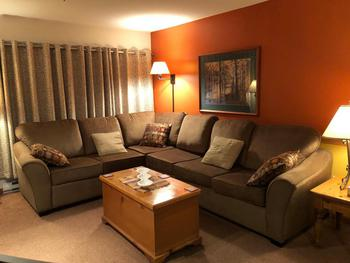 Living Room with Sectional Queen Sofa Bed