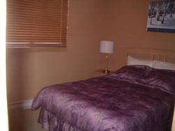 2nd Bedroom- Queen Bed. Overlooks MOGUL TRACK and has a beautiful view of the mountain.