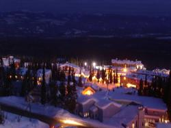 View of the Village lites. Watch from the comforts of your chalet or soaking in the hot tub and enjoy Big White's weekly fireworks show.