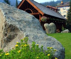 Sun Peaks is a lovely place for a wedding. This heart shaped rock in the background has been the site of many wedding vows.