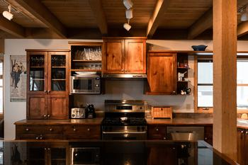 The gourmet kitchen is fully equipped with everything you need to prepare a delicious meal for family and friends.