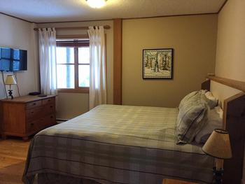 Lower level King with full ensuite.