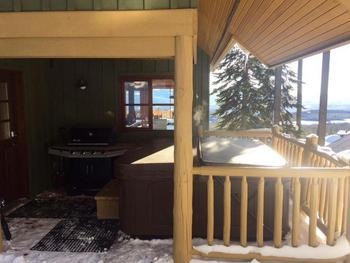 Private hot tub on rear deck.