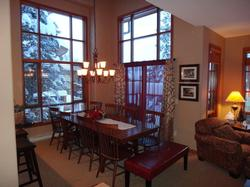 The dining room seats up to 10 with great views.