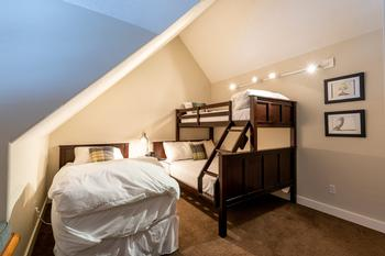 Third Room: Queen / Single bunk bed and single extra long bed.  TV (Netflix / no cable)