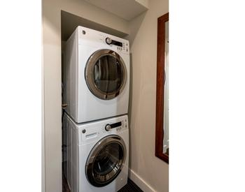 Private laundry - washer and dryer.