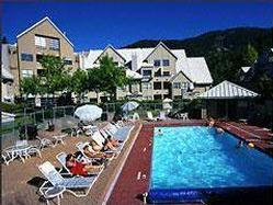 Lake Placid Lodge in the summer - all year heated outdoor pool and hot tub