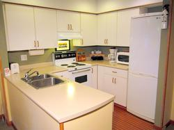 A fully equipped kitchen for your convenience.