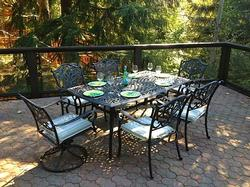 Outdoor Dining in Summer and Fall on the 800 Square Foot Deck.