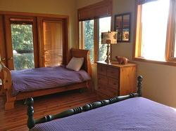 Upper Floor Family Bedroom. Fall Asleep to the Sound of Fitzsimmons Creek Far Below.