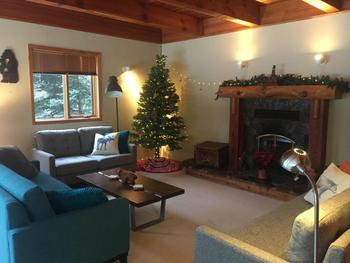 Spacious and Comfortable Living Room - Dressed up for Christmas Cheer