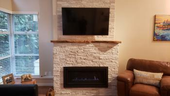 Our cosy and functional gas fireplace