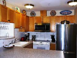 Well appointed kitchen includes a new fridge, dishwasher & microwave.