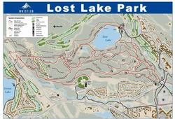 Lost Lake park trail map - great for a day at the beach, hiking, biking, running or X-country skiing.