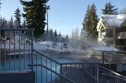 Heated outdoor pool great for winter and summer