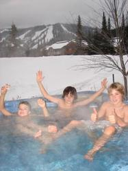 Hot tub pleasures after a great day on the slopes!