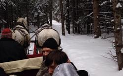 Sleigh ride with Mr Emond