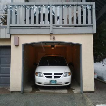 Private garage fits large mini-van or a large quantity of bikes!