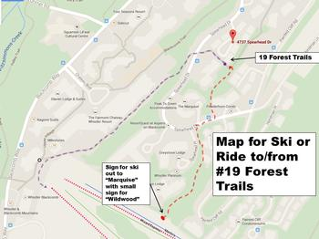 Map for getting to and from the ski lifts.