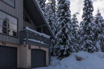 View of town-house and proximity to Blackcomb Trail..