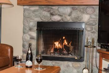 After an active day, relaxing in front of a real wood fire place can be appreciated!