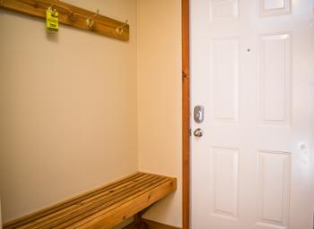 Entry to the condo. Hang up your coats and get ready for a fun ski vacation!