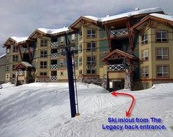 The ski in/out entrance is just steps away from the heated, secure ski lockers